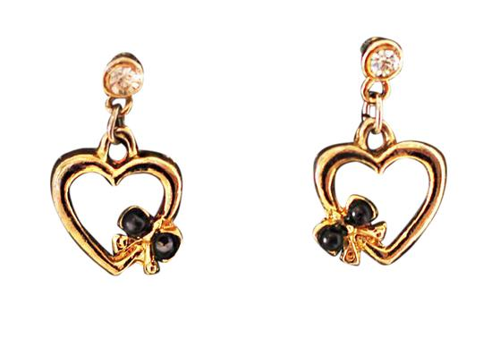Preload https://item3.tradesy.com/images/gold-betsey-johnson-style-heart-and-bow-earrings-21546117-0-1.jpg?width=440&height=440
