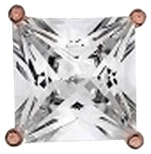 Other Icy Rose Gold Finish 1.25 Ct Lab Diamond Round Solitaire 925 Silver