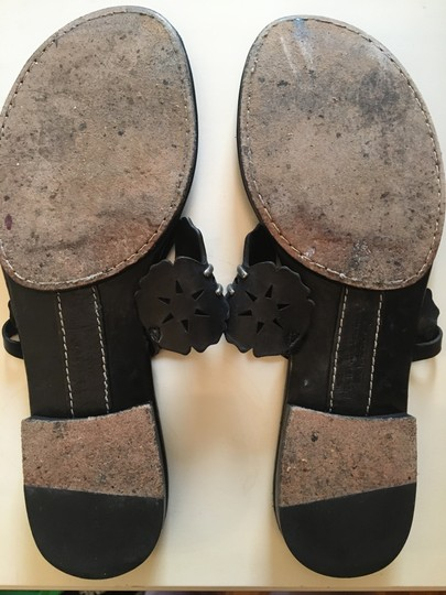 Vera Wang Lavender Label Leather Geometric Black Sandals Image 4