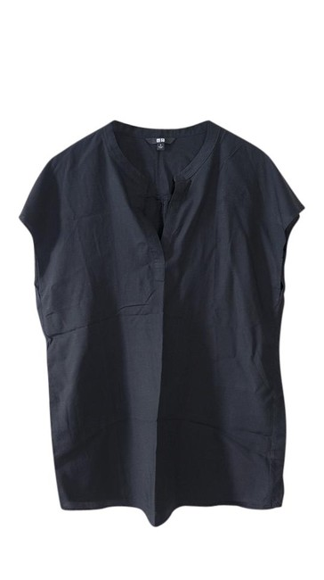 Preload https://img-static.tradesy.com/item/21546415/uniqlo-black-drape-tunic-blouse-size-4-s-0-1-650-650.jpg