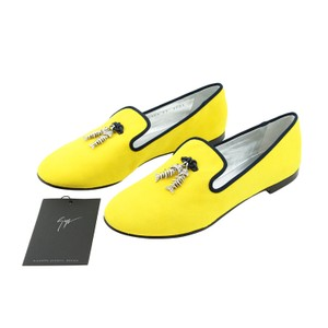 Giuseppe Zanotti Women Fashion Luxury Brand Spike Yellow Flats
