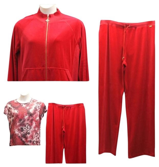 Preload https://item4.tradesy.com/images/st-john-red-sport-by-marie-gray-3-pc-velour-sweat-track-pant-suit-xl-activewear-size-16-xl-plus-0x-2154663-0-0.jpg?width=400&height=650