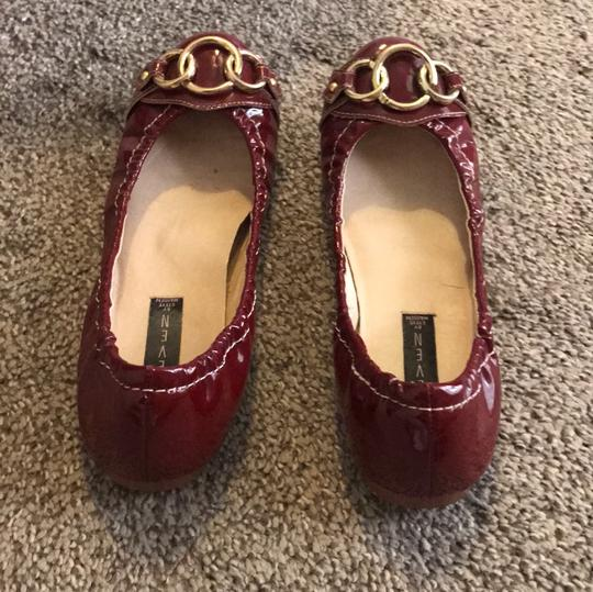 Steve Madden Red Patent Leather Flats