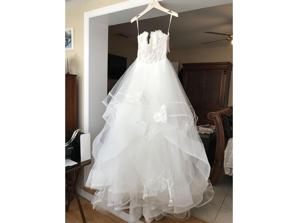 Hayley paige shades of white shades of ivory lace tulle for Wedding dress shades of white