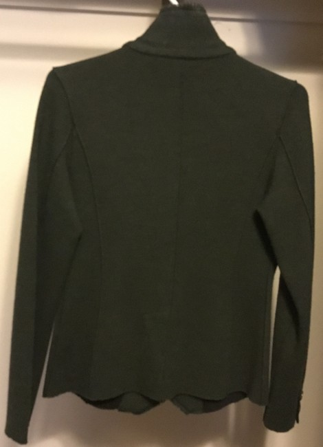 Eileen Fisher Wool Blazer Olive Military Jacket