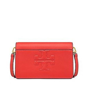 f0824e3b63be Tory Burch T Bombe Small Crossbody Poppy Coral Orange Red Leather ...