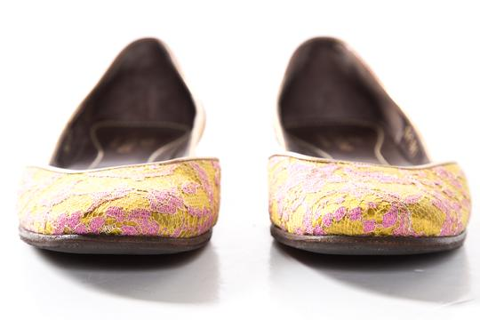 Valentino Yellow And Pink Flats