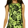 Michael Kors Green and Black Palm Print Set Short Casual Dress Size 8 (M) Michael Kors Green and Black Palm Print Set Short Casual Dress Size 8 (M) Image 1