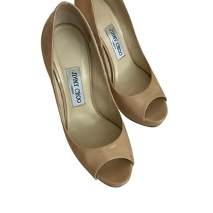 Jimmy Choo Nude patent leather Platforms