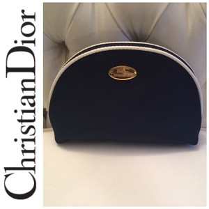 Dior Christian Dior Cosmetic Bag Navy & White