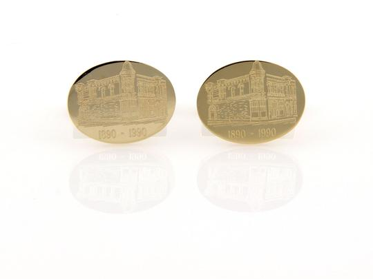 Tiffany & Co. Unocal Commemorative 14K Yellow Gold Cufflinks w/Tin Box