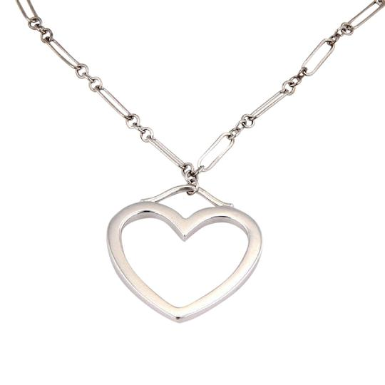Preload https://item3.tradesy.com/images/tiffany-and-co-white-gold-chain-link-medium-open-heart-pendant-necklace-21547087-0-1.jpg?width=440&height=440
