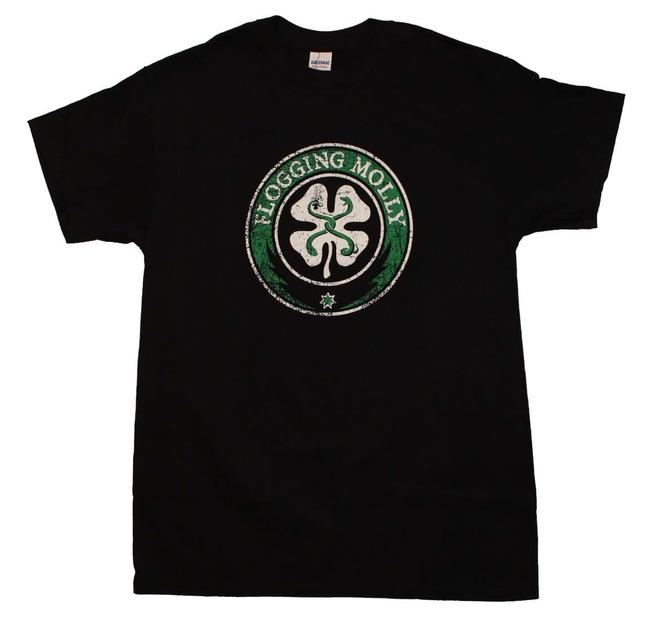 Flogging Molly The Treasured Hippie Music Boho Band Memorabilia T Shirt Black