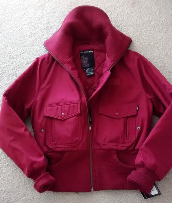 Alpha Industries Bomber Military Red Jacket