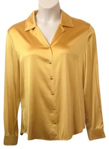 St. John Button Down Shirt YELLOW