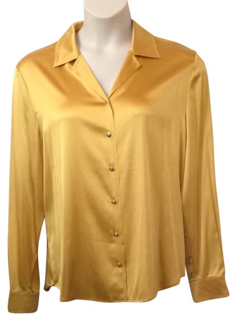 Preload https://item5.tradesy.com/images/st-john-yellow-silk-charmeuse-blouse-msrp-button-down-top-size-14-l-2154729-0-0.jpg?width=400&height=650