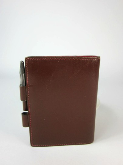 Hermès Brown, Leather, Notes/Card Wallet & Sterling Silver Hermes Pen