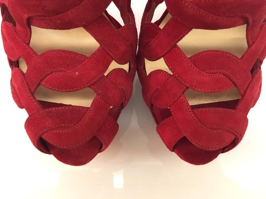 Christian Louboutin Cage Suede red Platforms