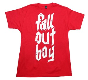 Fall Out Boy The Treasured Hippie Music Boho Band Memorabilia T Shirt Red