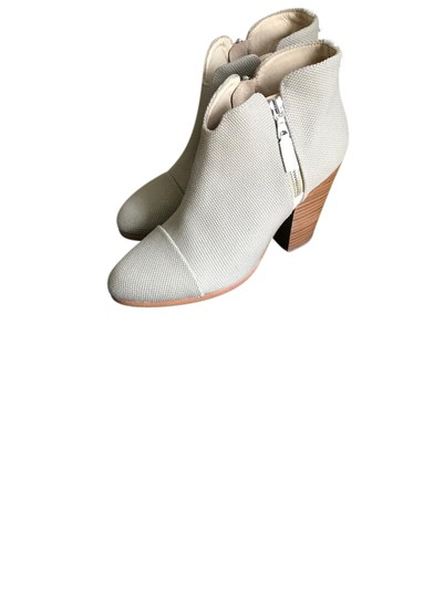 Rag & Bone Leather Canvas Nude White Beige Boots Image 0