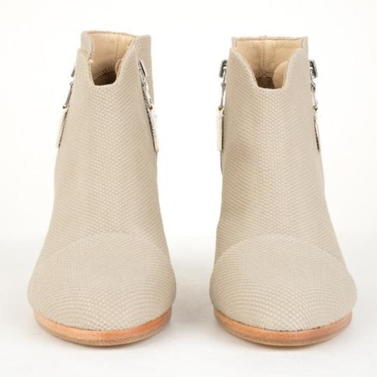 Rag & Bone Leather Canvas Nude White Beige Boots Image 2