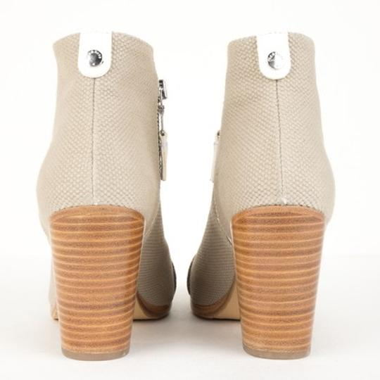 Rag & Bone Leather Canvas Nude White Beige Boots Image 3