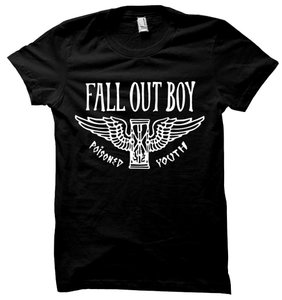 Fall Out Boy The Treasured Hippie Music Boho Band Memorabilia T Shirt Black
