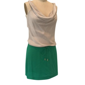 Diane von Furstenberg short dress grey and green on Tradesy