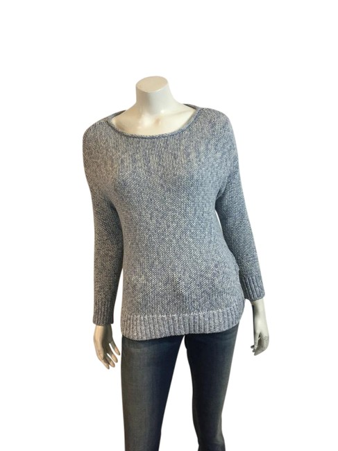 Preload https://item2.tradesy.com/images/vince-blue-white-118517-bluewhite-cotton-knit-sweaterpullover-size-8-m-21547486-0-1.jpg?width=400&height=650