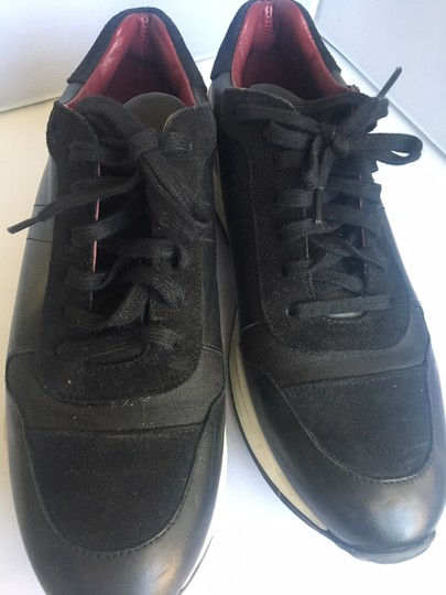 Opening Ceremony City Trainer Black leather suede and black rip stop Athletic