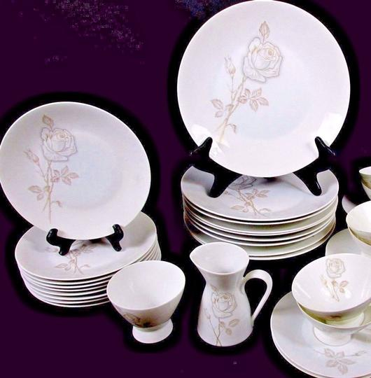 Preload https://item5.tradesy.com/images/floral-white-porcelain-106-pcs-classic-rose-design-by-raymond-loewy-fine-china-21547529-0-0.jpg?width=440&height=440