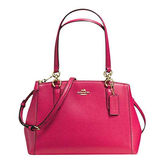 Preload https://item3.tradesy.com/images/coach-christie-small-carryall-satchel-f-57520-36704-pink-leather-shoulder-bag-21547717-0-2.jpg?width=440&height=440