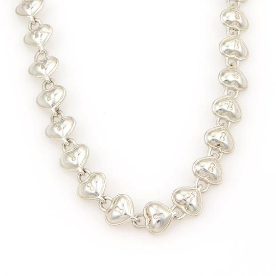 Tiffany & Co. 925 Sterling Silver All Around Padlock Heart Link Necklace