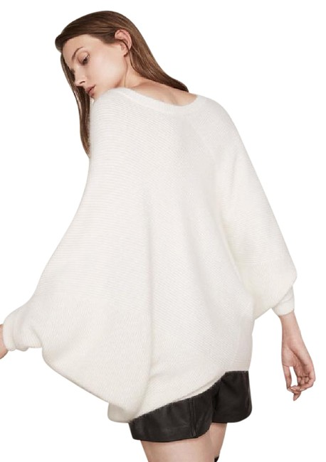 Preload https://item5.tradesy.com/images/maje-white-sweater-sweatshirthoodie-size-0-xs-21547864-0-3.jpg?width=400&height=650