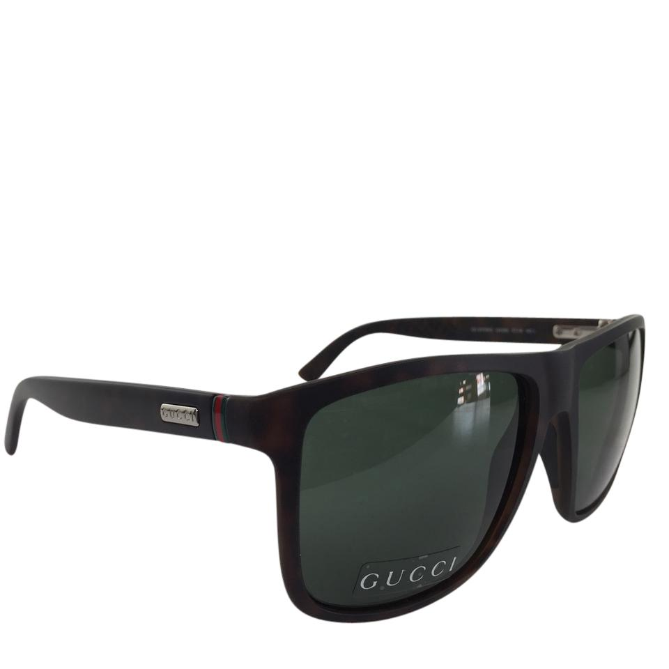 29620435d6b Gucci Authentic GG 1075 N S QXG85 Matte Tortoise Green Lens Silver Red  Green ...