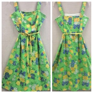 Vintage short dress Green on Tradesy