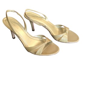 Ann Taylor Toffee Pearl Patent Formal