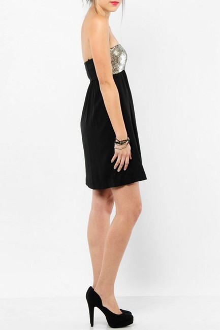 Theory Sequined Strapless Dress