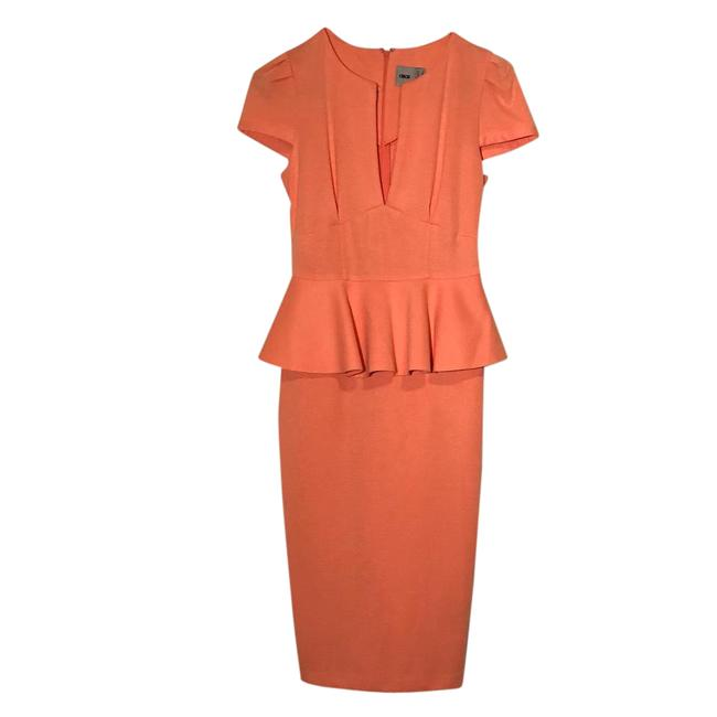 Preload https://item4.tradesy.com/images/asos-coral-sexy-pencil-with-bonded-peplum-mid-length-short-casual-dress-size-4-s-21548003-0-1.jpg?width=400&height=650
