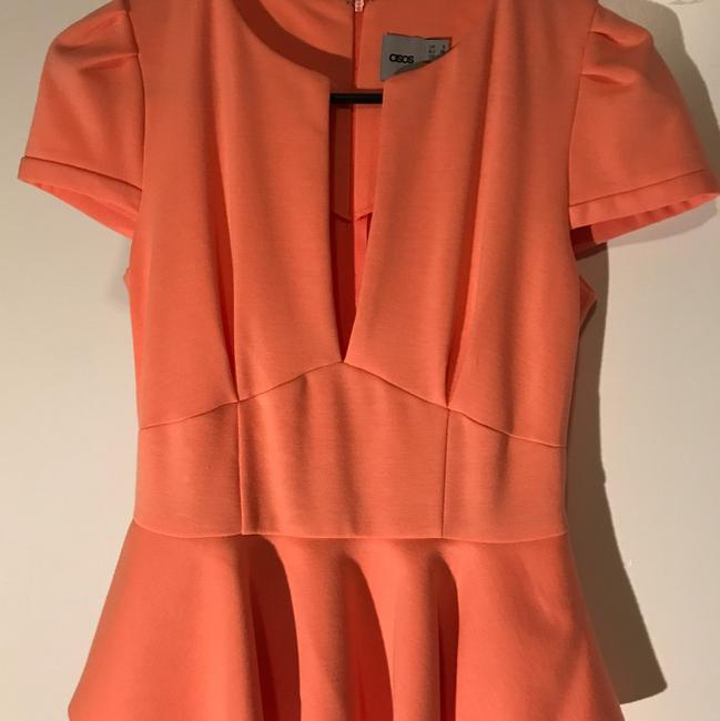 ASOS short dress coral Sexy Peplum Spring Pencil on Tradesy