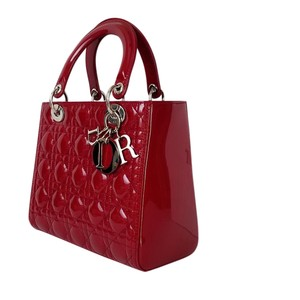 Dior Lady Purse Clutch Tote in Bright Red