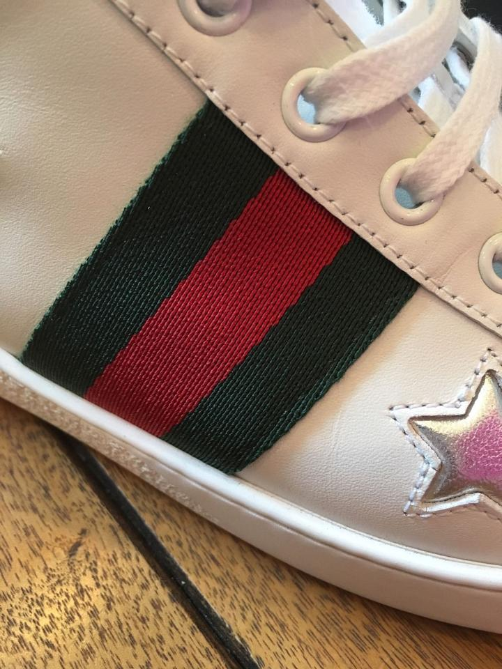 ba27858a0 Gucci White/Multi 2017 Ace Star Leather 42 Sneakers Size US 12 ...