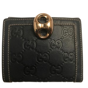 "Gucci Gucci NWOT Small ""gg"" Monogram Navy Wallet"