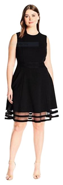 Preload https://item1.tradesy.com/images/calvin-klein-black-women-s-sleeveless-round-neck-fit-and-flare-mid-length-formal-dress-size-petite-6-21548300-0-1.jpg?width=400&height=650