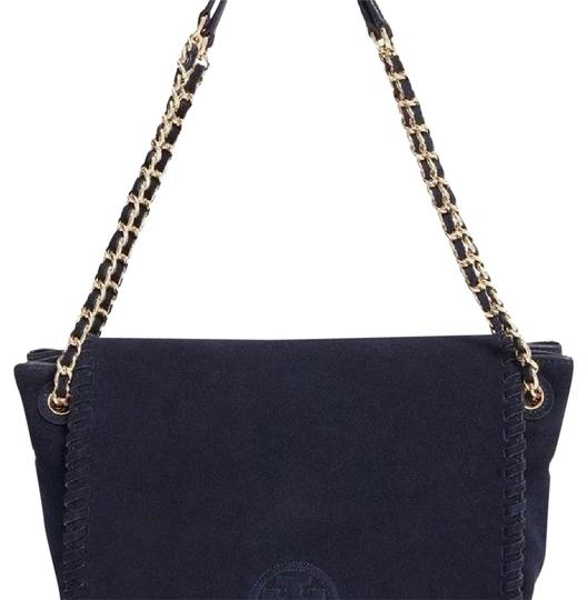 Preload https://item5.tradesy.com/images/tory-burch-marion-small-flap-shoulder-navy-suede-leather-tote-21548374-0-1.jpg?width=440&height=440