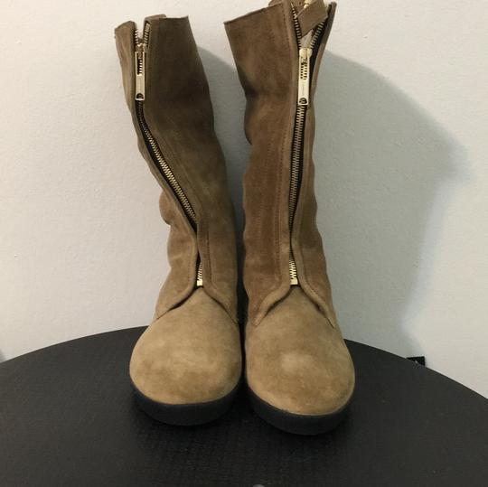 Burberry Shearling Suede Tan Boots