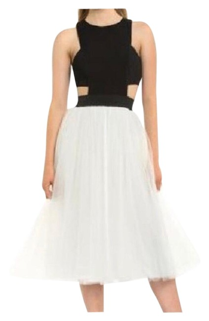 Preload https://item1.tradesy.com/images/teeze-me-black-and-white-short-formal-dress-size-12-l-21548390-0-3.jpg?width=400&height=650