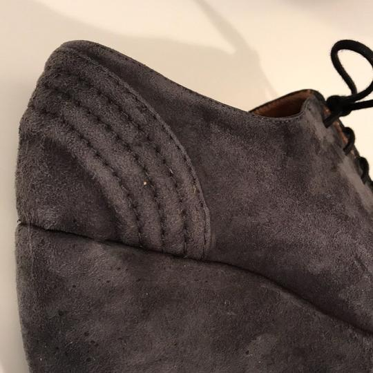 Accessoire Suede Laces Laced Gray Wedges