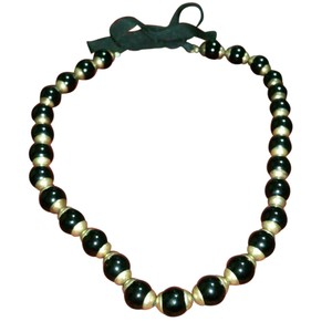 J.Crew Glass pearl necklace with ribbon