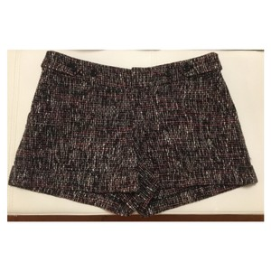 Rebecca Taylor Cuffed Shorts Black Multi